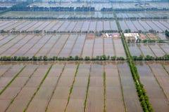 Aerial view of farmland Royalty Free Stock Photo