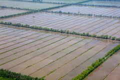 Aerial view of farmland Stock Photos