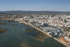 Aerial view of Faro Royalty Free Stock Photography