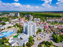 Aerial view of Felix Baths, Romania Medical Spas. In Bihor Royalty Free Stock Image