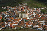 Aerial view of Feria church Royalty Free Stock Photography