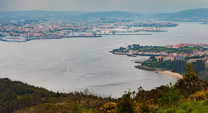 Aerial view of Ferrol, in Spain Royalty Free Stock Photo