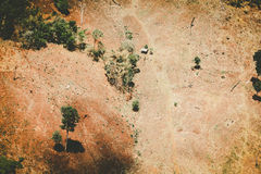 Aerial view of fertile farmland Royalty Free Stock Image