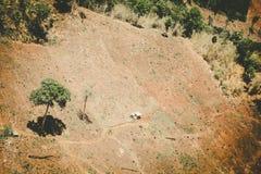 Aerial view of fertile farmland Royalty Free Stock Photo