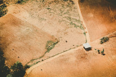 Aerial view of fertile farmland Stock Images