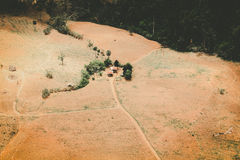 Aerial view of fertile farmland Stock Photo