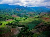 Aerial view of fertile farmland Royalty Free Stock Photos