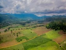 Aerial view of fertile farmland Royalty Free Stock Photography