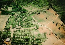 Aerial view of fertile farmland Royalty Free Stock Images