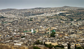 Aerial view of Fes Stock Photography