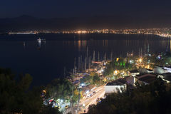 Aerial view of Fethiye at night Royalty Free Stock Photo