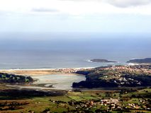 Small villages by the Cantabrian sea Stock Photos