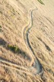 Aerial view of field road Royalty Free Stock Photography