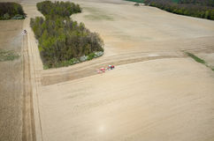 Aerial view of the field Stock Photography