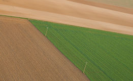 Aerial view of fields Royalty Free Stock Images