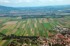 Aerial View of fields. Aerial view of Hungarian fileds Stock Photos