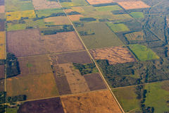 Aerial view at the fields Royalty Free Stock Image