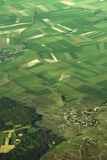 Aerial view of fields in Europe Stock Photos
