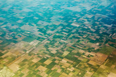 Aerial view of the fields. Aerial view of the regularly planned fields Royalty Free Stock Photography
