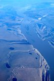 Aerial view - fields and rivers Stock Photography