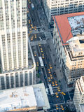 Aerial view of Fifth Avenue in New York City. With lots of yellow cabs Royalty Free Stock Photo