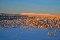 Aerial view of finish lapland Stock Photography