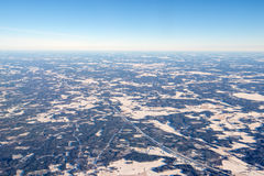 Aerial view of Finland in winter near Helsinki. Aerial view of Finland in winter, near Helsinki stock photography