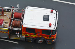 Aerial view of fire engine truck Royalty Free Stock Image