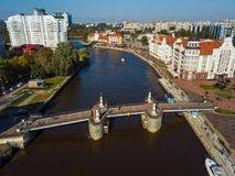 Aerial view of fish village district in Kaliningrad. Russia Royalty Free Stock Photos