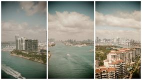 Aerial view of Fisher Island in Miami, Florida.  stock photo