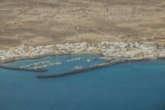 La Graciosa harbor Stock Image