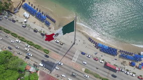 Aerial view of the flag in Mexico stock video footage