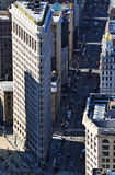 Aerial view of the Flatiron Building Stock Images