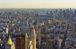 Aerial view on Flatiron district of New York Stock Photo