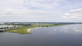 Aerial view on Flevoland Royalty Free Stock Image