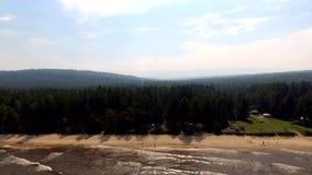 Aerial View: Flight over baikal stock video