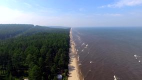 Aerial View: Flight over baikal stock footage