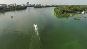 Aerial View Flight Over Water. Daytime Aerial View Flight Over Water stock footage
