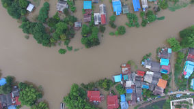 Aerial view of flood Royalty Free Stock Photography
