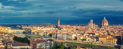 Aerial view of Florence Royalty Free Stock Photos
