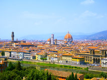 Aerial View of Florence Cathedral Stock Photos