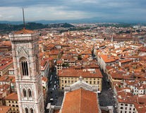 Aerial view on Florence city Royalty Free Stock Photography