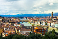 Aerial view of Florence, Italy Royalty Free Stock Image