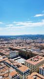 An aerial view of Florence, Italy royalty free stock photo