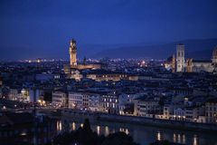 Aerial view of Florence, Italy. Aerial view of Florence, Vecchio Palace, Italy Stock Photography