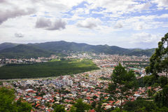 Aerial view of Florianópolis-SC Brazil stock photos
