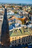 Aerial view on Florianska street in Krakow Royalty Free Stock Image