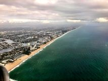aerial view of Florida stock photography