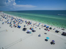 Aerial view of Florida Beach in Summer royalty free stock photography