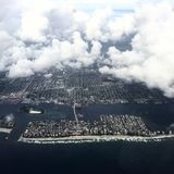 Aerial view of florida coast before hurricane Royalty Free Stock Photography